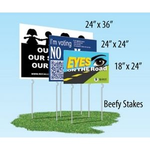 Double Sided Yard Sign (18